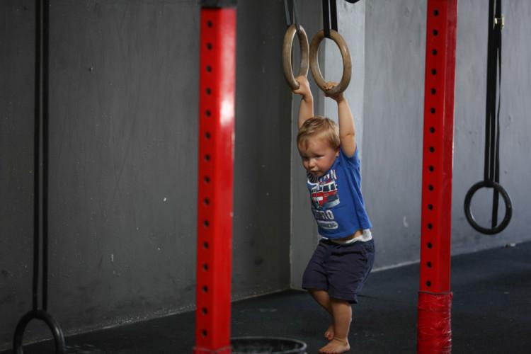 CrossFit Insanity_Irvine_CA_Ring Rows_CrossFit_Kids_Toddler